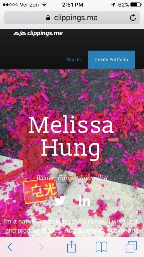 clippings.me portfolio review